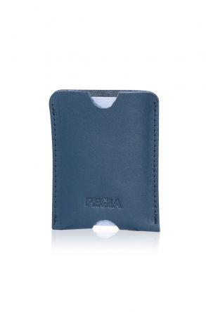 Pegia Genuine Leather Cardholder 19CZ200 Petrol Mavisi