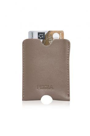 Pegia Genuine Leather Cardholder 19CZ200 Visone