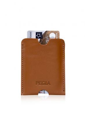 Pegia Genuine Leather Cardholder 19CZ200 Ginger