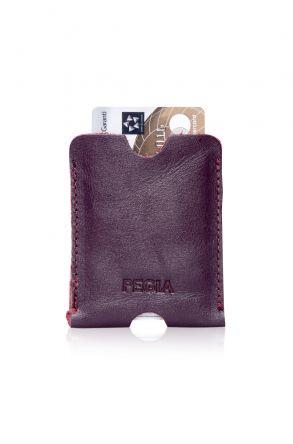 Pegia Genuine Leather Cardholder 19CZ200 Plum