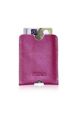 Pegia Genuine Leather Cardholder 19CZ200 Magenta