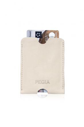 Pegia Genuine Leather Cardholder 19CZ200 Beige