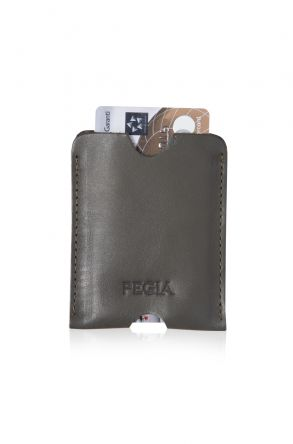 Pegia Genuine Leather Cardholder 19CZ200 Khaki