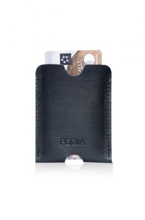Pegia Genuine Leather Cardholder 19CZ200 Black