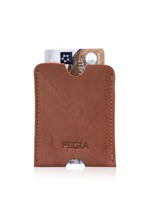 Pegia Hakiki Deri Kartlık Cüzdan 19CZ201 Kahve