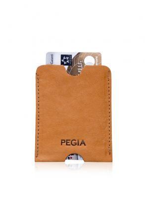 Pegia Hakiki Deri Kartlık Cüzdan 19CZ201 Ginger