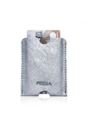 Pegia Hakiki Deri Kartlık Cüzdan 19CZ208 Gümüş