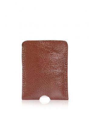 Pegia Genuine Leather Cardholder 19CZ221 Ginger