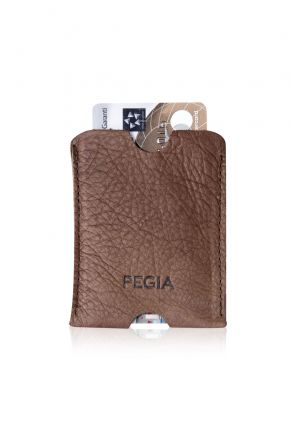 Pegia Genuine Leather Cardholder 19CZ237 Brown