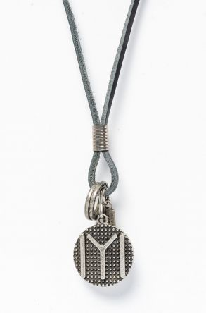 Pegia Genuine Leather Necklace 19KL06 Black