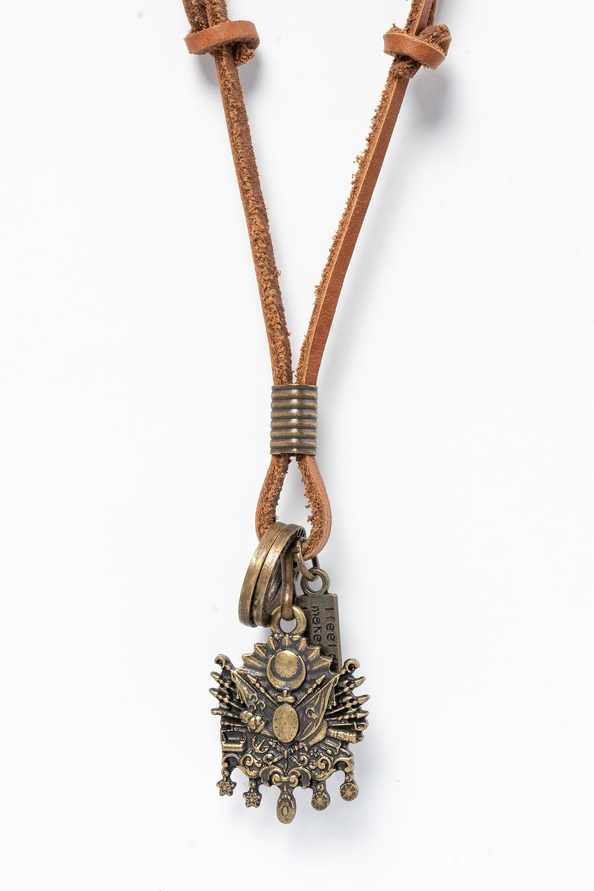 Pegia Genuine Leather Necklace 19KL09 Ginger