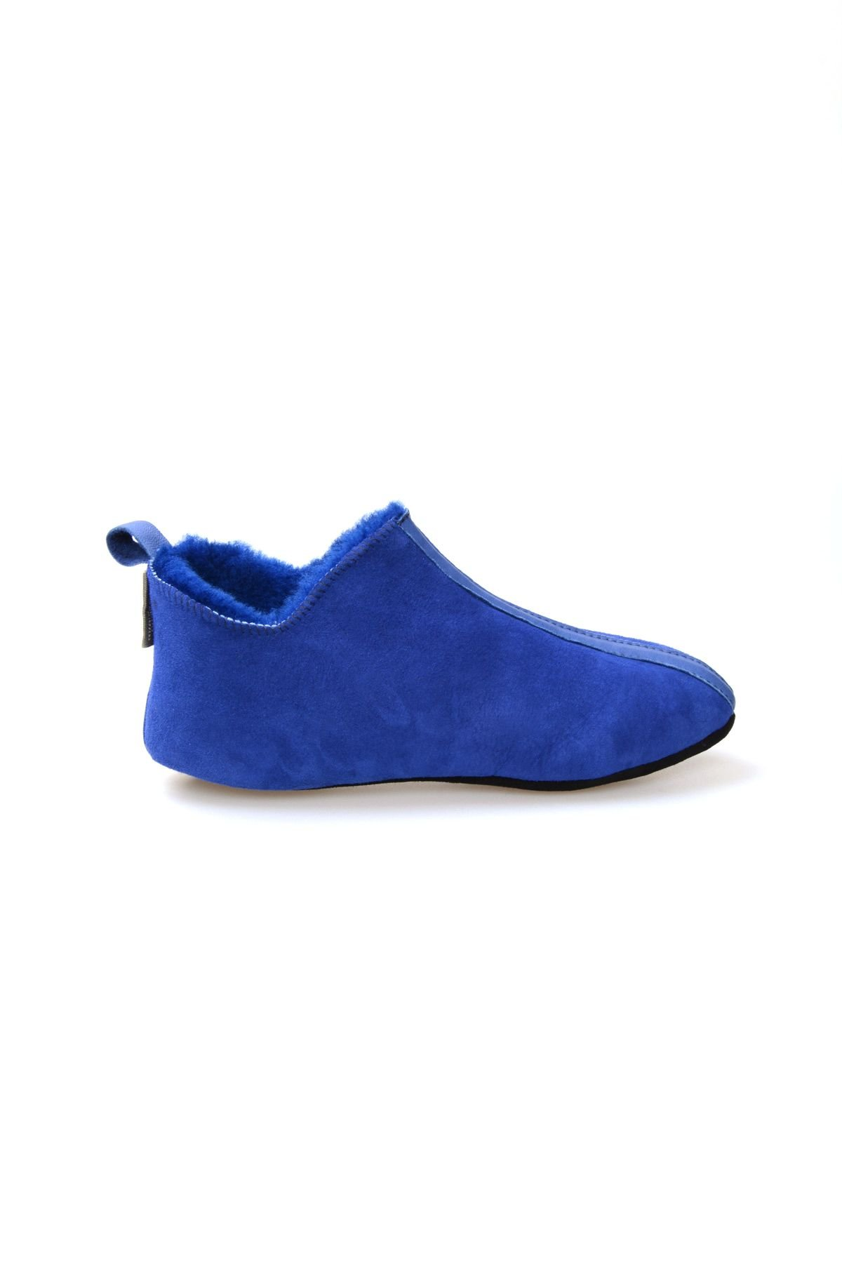 Pegia Men's Suede Sheepskin Slippers 111010 Blue