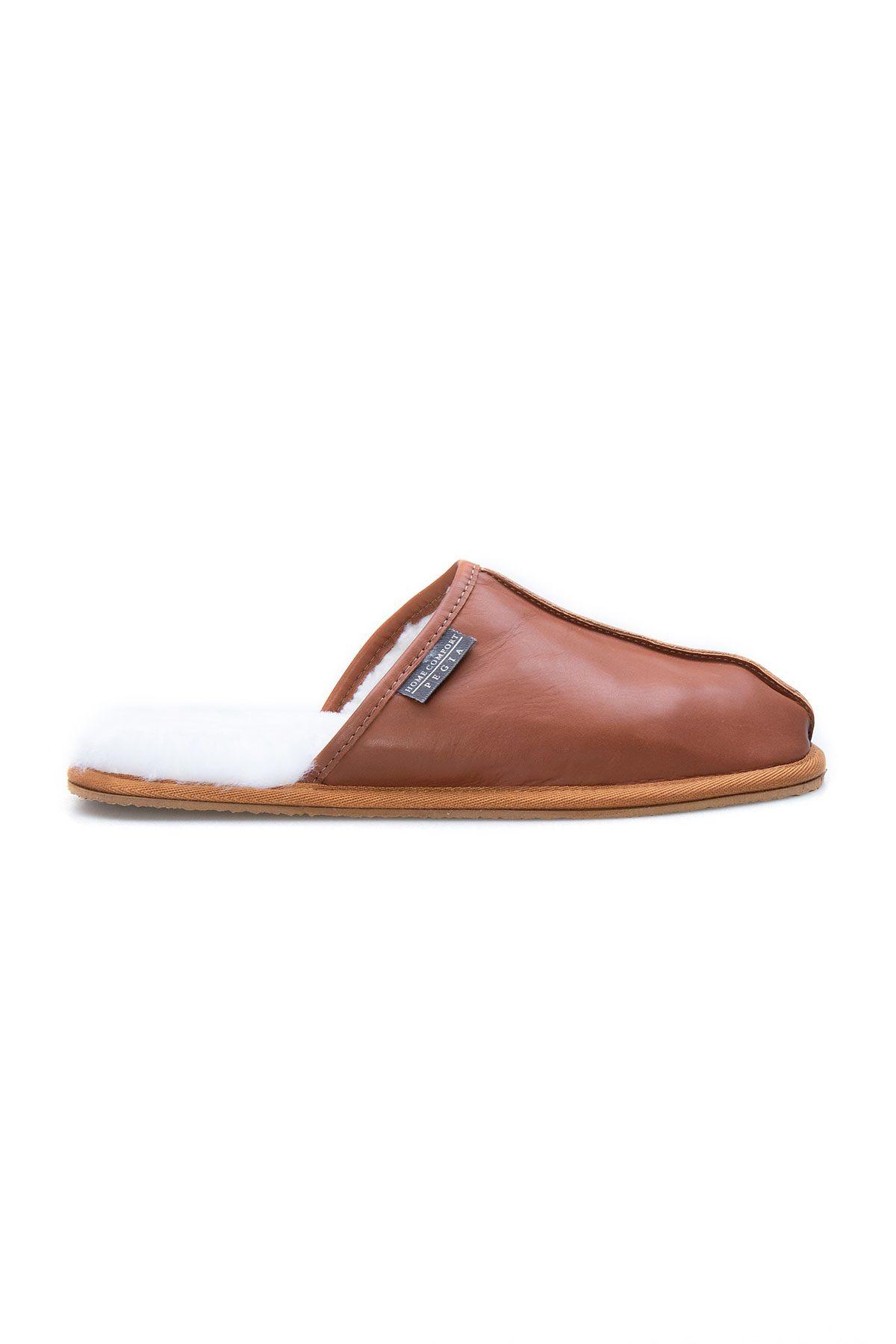Pegia Genuine Leather Men's House Slippers 111012 Ginger