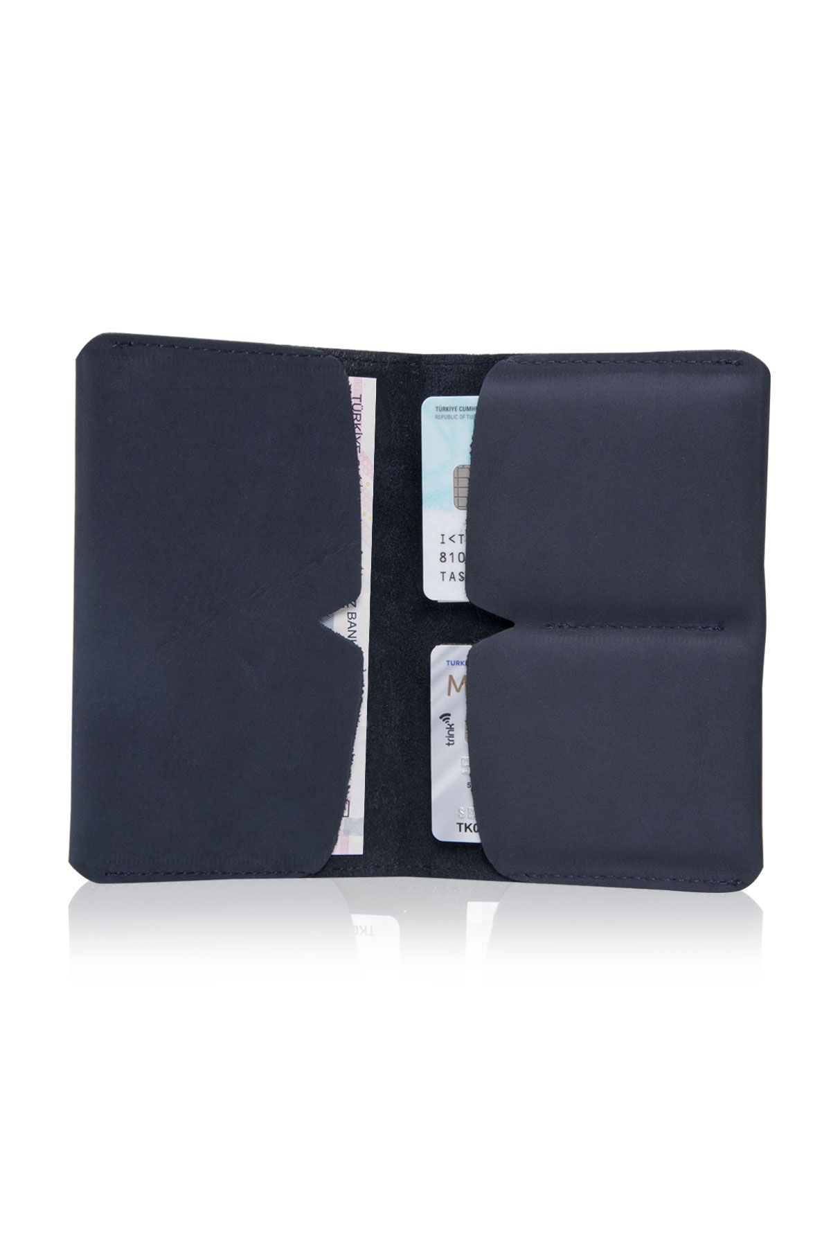 Pegia Genuine Nubuck Big Size Wallet 19CZ306 Navy blue