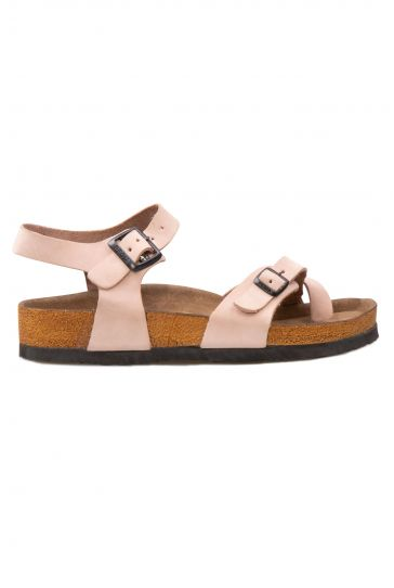 Pegia Genuine Leather Flip-Flops Women's Sandals 215513 Powdery