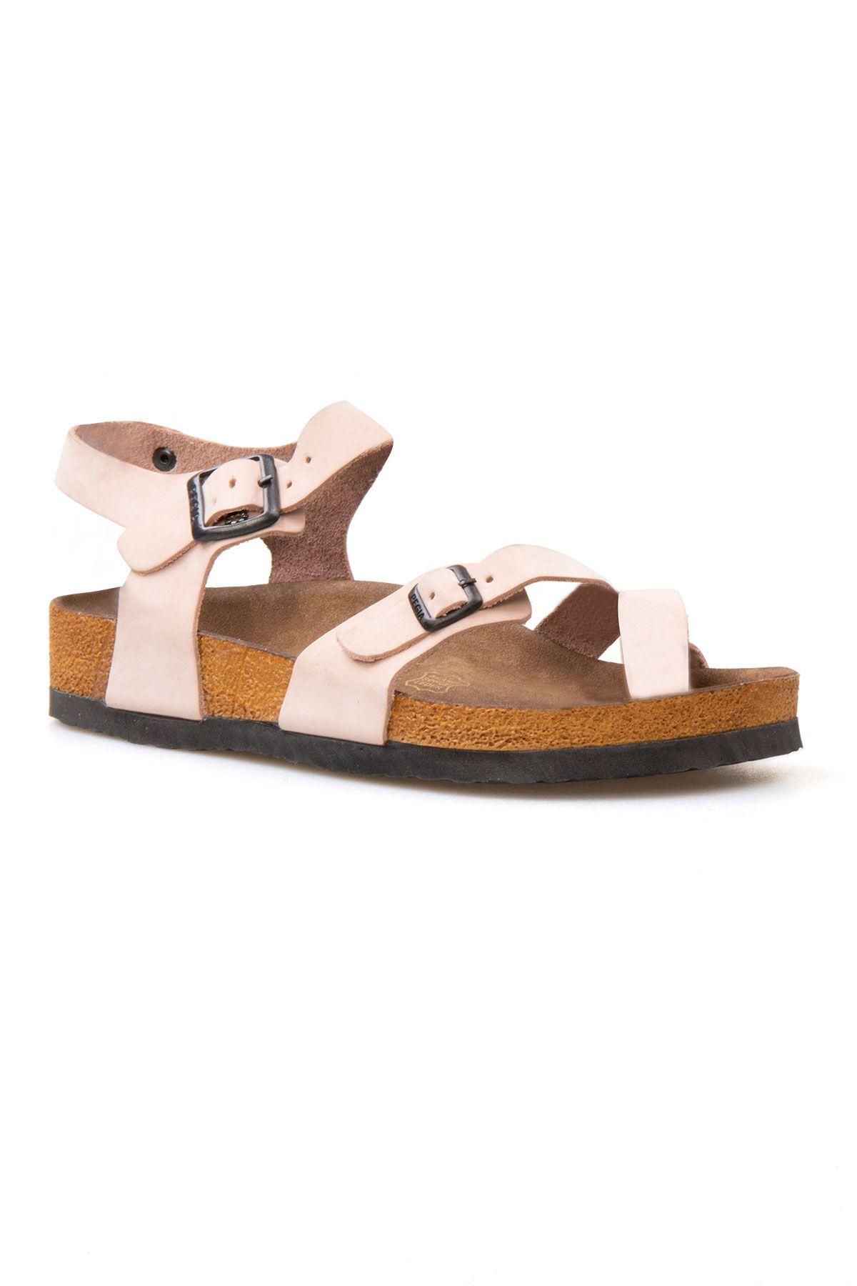 Pegia Genuine Leather Flip-Flops Women's Sandals 215513 Powdery