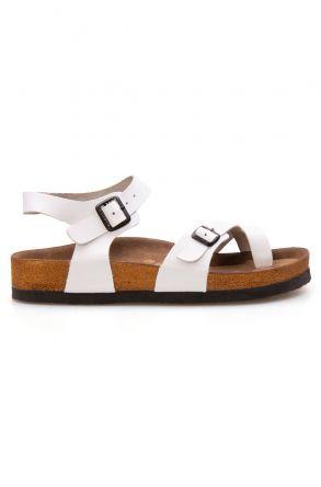 Pegia Genuine Leather Flip-Flops Women's Sandals 215513 White