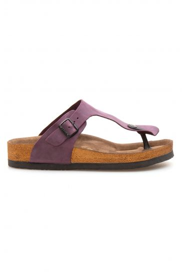 Pegia Genuine Leather Women's Flip Flops 215511 Purple