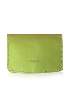 Pegia Genuine Leather Passport Holder 19CZ400 Fıstık Yeşili