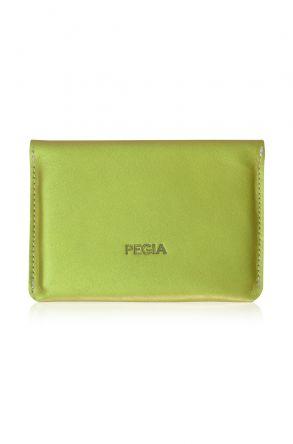 Pegia Hakiki Deri Pasaport Cüzdanı 19CZ500 Fıstık Yeşili