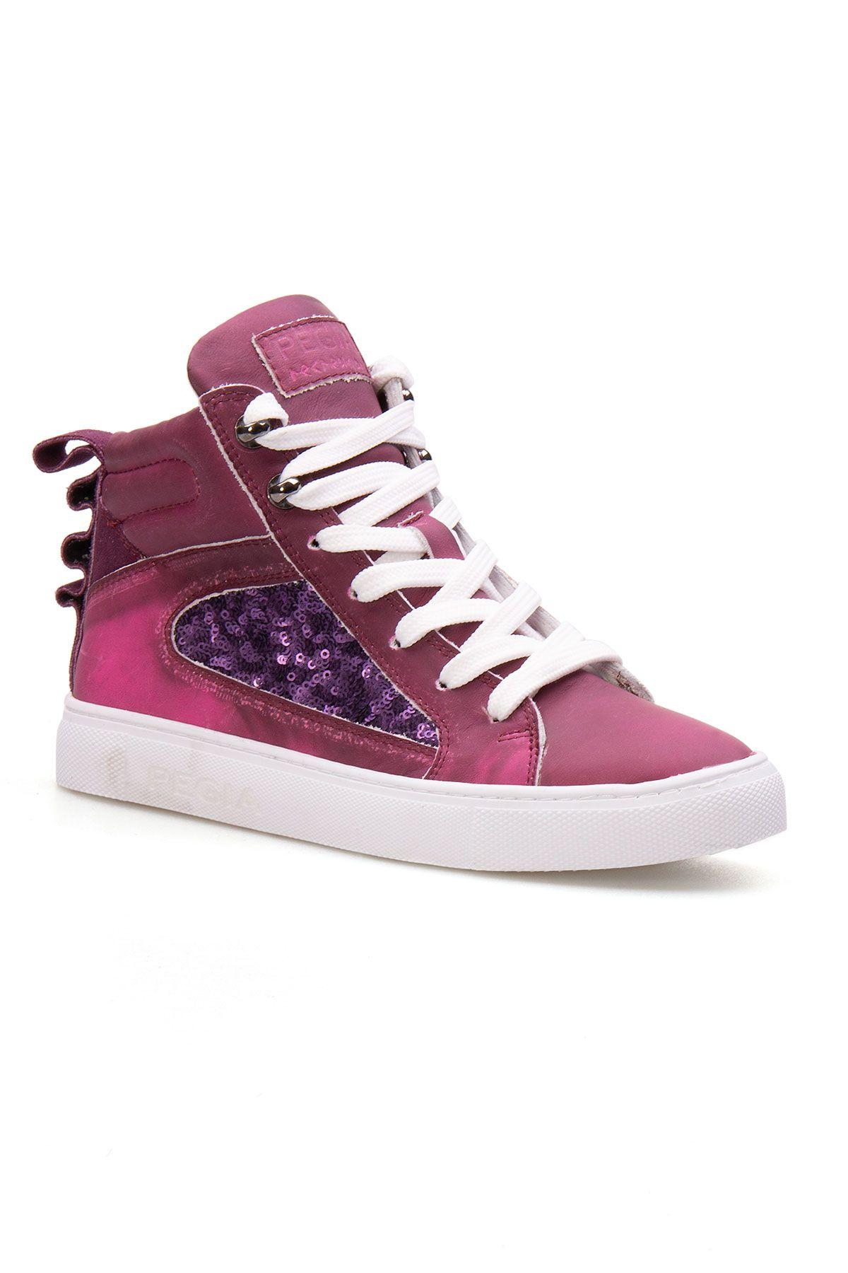 Pegia Genuine Leather Women's Sneaker LA1210 Purple