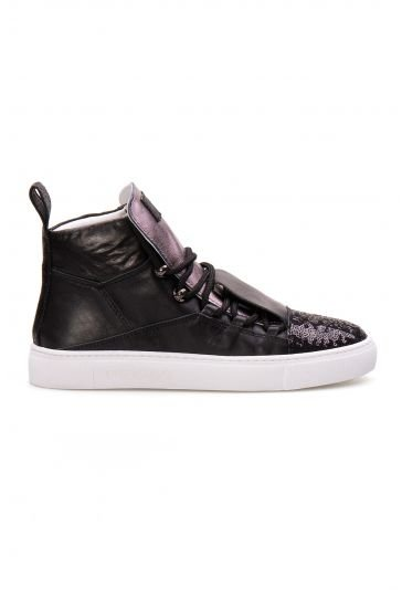 Pegia Genuine Leather Women's Sneaker LA1304 Black