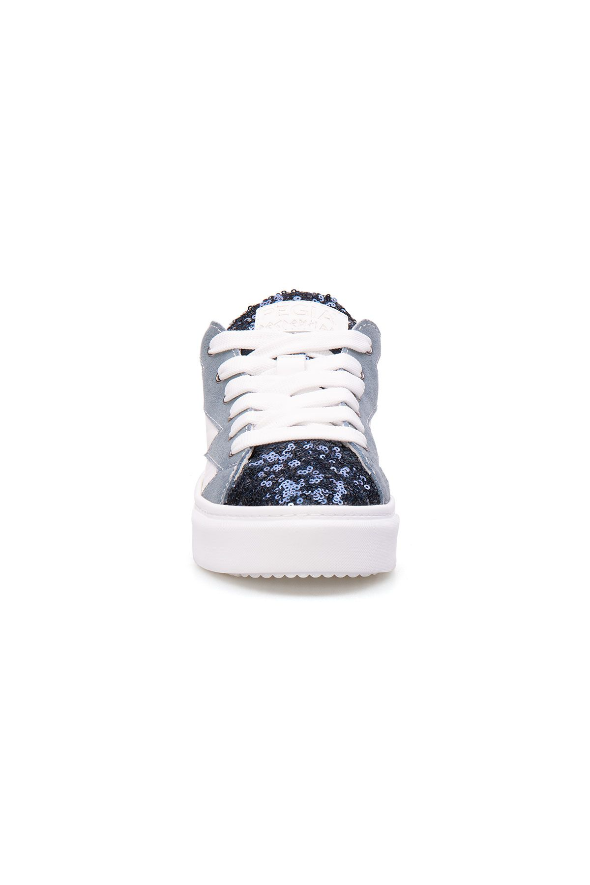 Pegia Genuine Leather Sequined Women's Sneaker LA1501 Turquoise