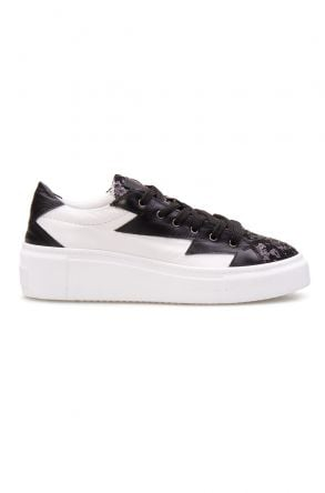Pegia Genuine Leather Women's Sneaker LA1504 Black