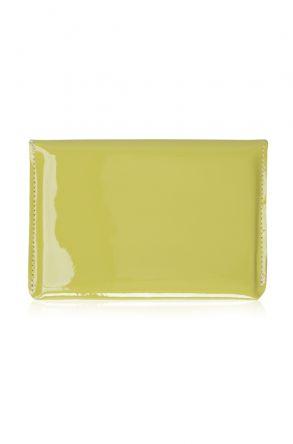 Pegia Hakiki Deri Rugan Pasaport Cüzdanı 19CZ504 Fıstık Yeşili