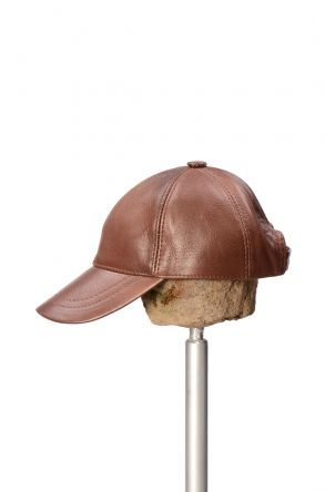 Pegia Genuine Leather Hat 19SB12 Brown