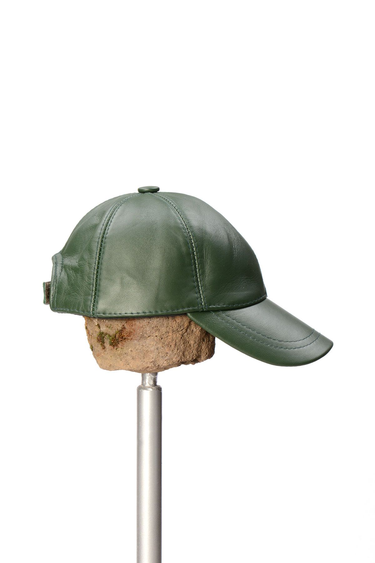Pegia Genuine Leather Hat 19SB12 Green