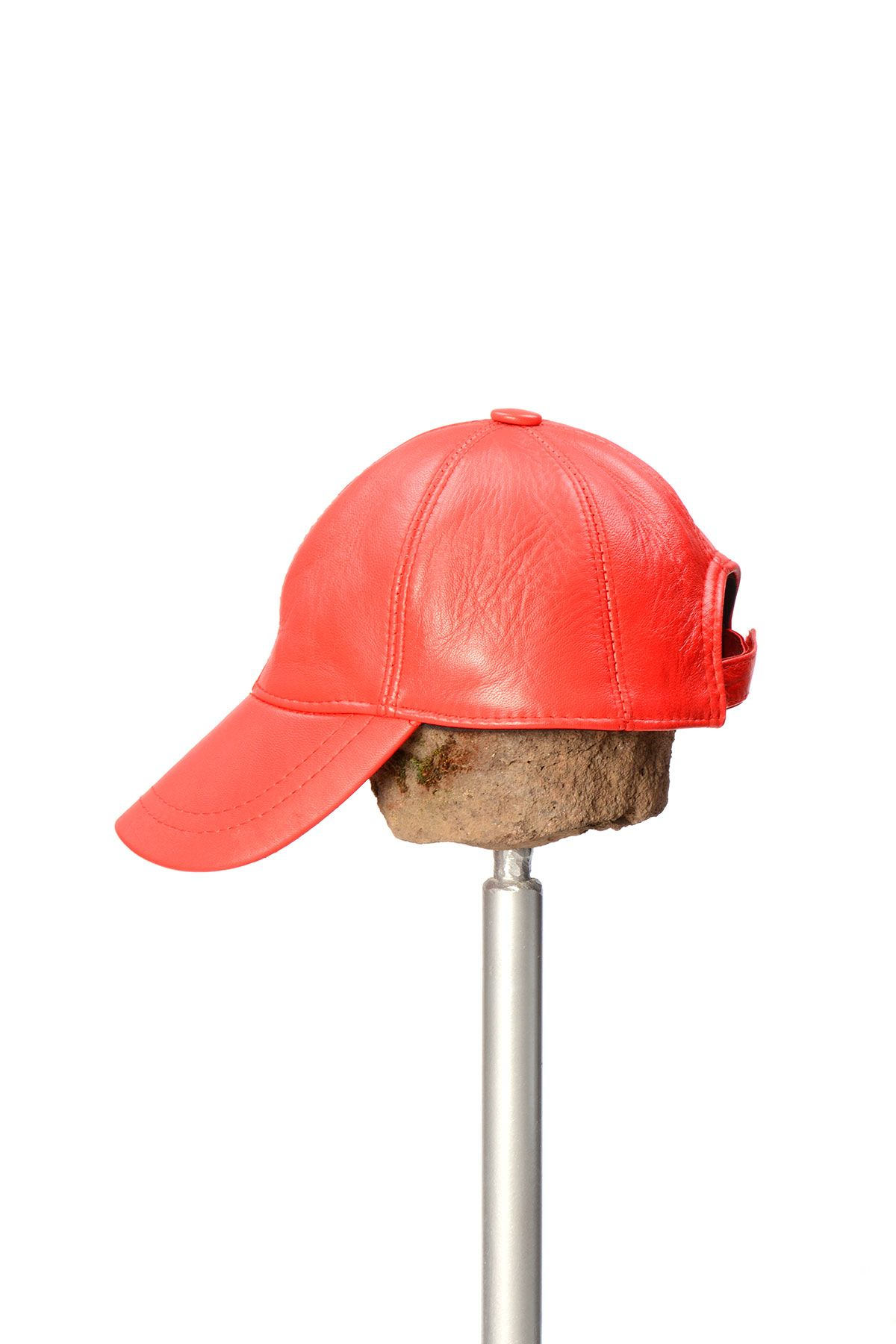 Pegia Genuine Leather Hat 19SB12 Red
