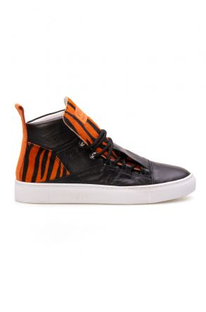 Pegia Genuine Leather Women's Sneaker LA1305 Orange