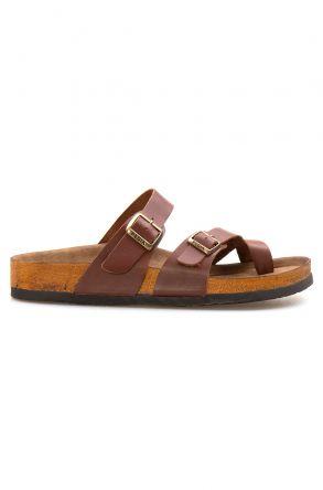 Pegia Genuine Leather Men's Slippers 215012 Ginger