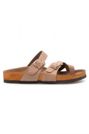 Pegia Genuine Leather Men's Slippers 215012 Beige