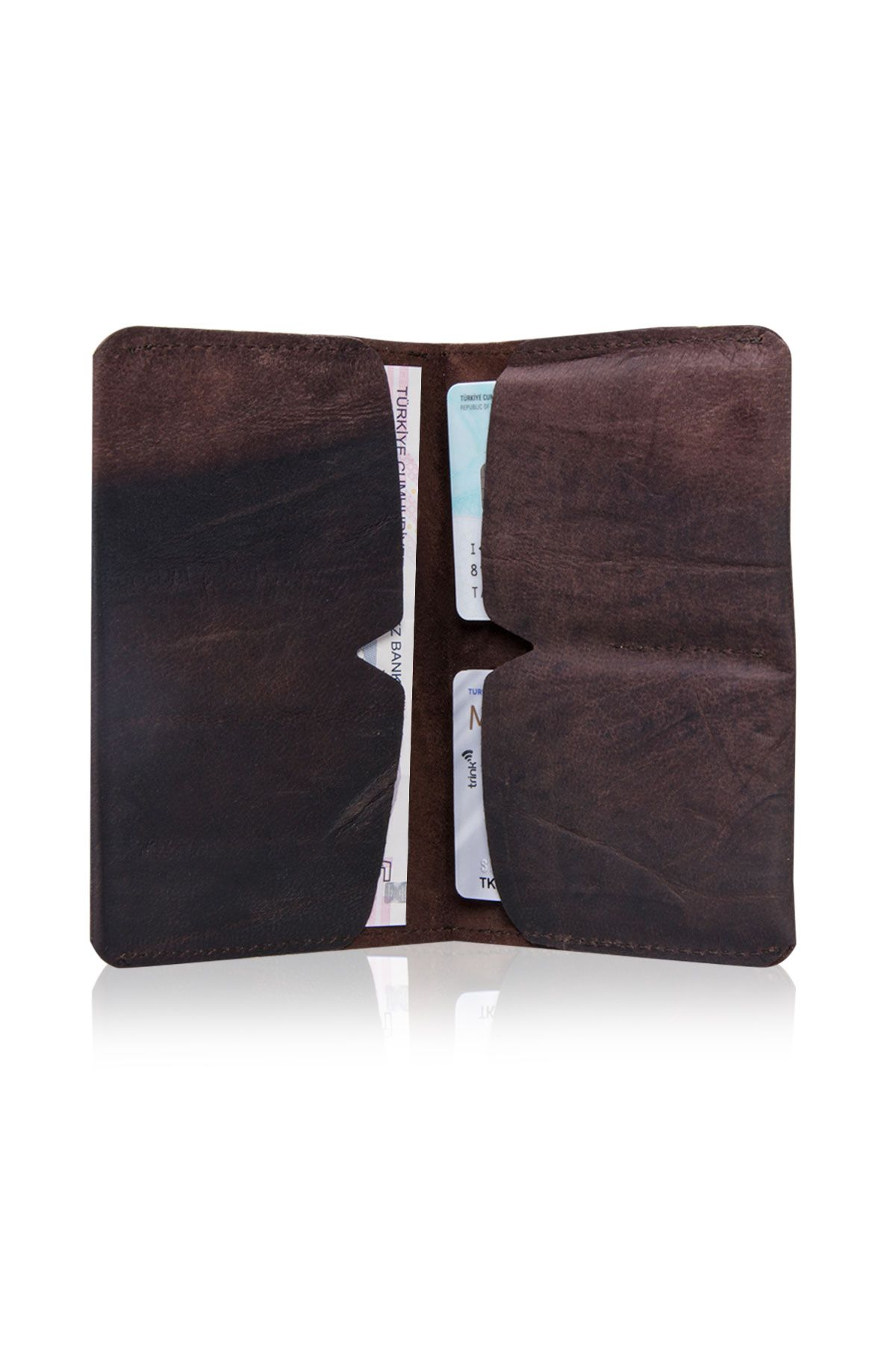 Pegia Genuine Leather Vintage Wallet 19CZ305 Brown