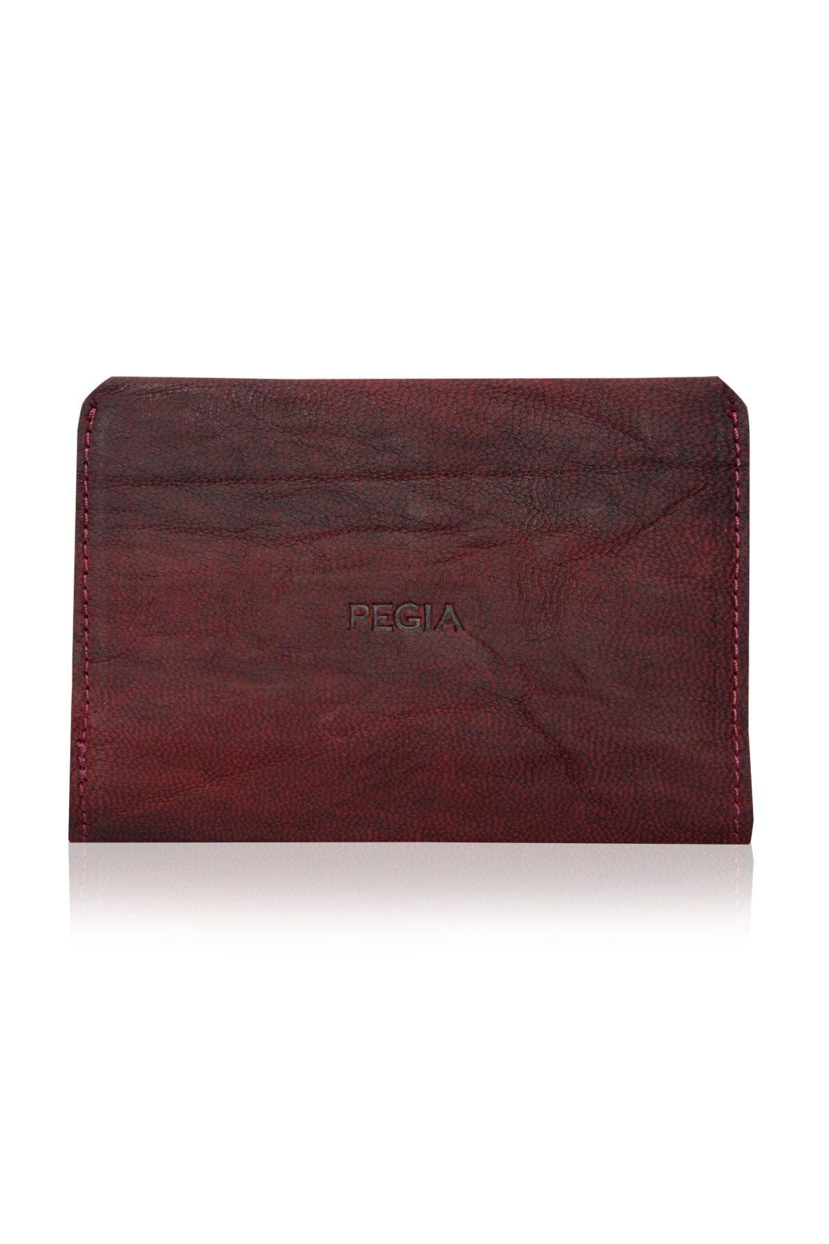 Pegia Genuine Leather Vintage Wallet 19CZ305 Claret red
