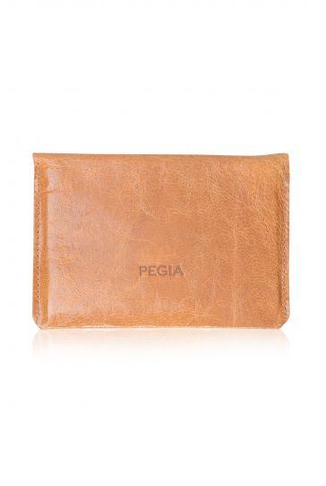Pegia Hakiki Deri Vintage Pasaport Cüzdanı 19CZ502 Taba