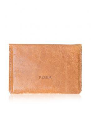 Pegia Genuine Leather Vintage Passport Holder 19CZ502 Ginger