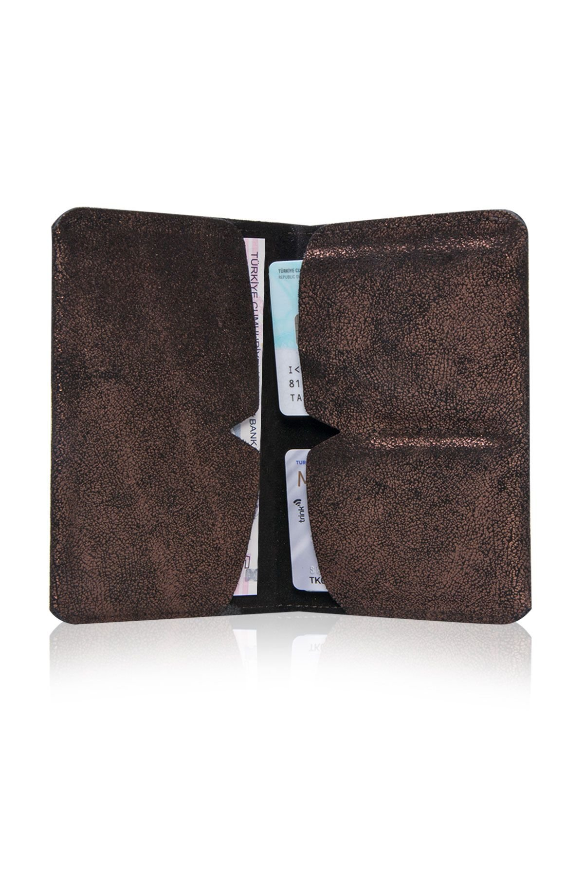 Pegia Original Leather Gilded Wallet Big Size  19CZ303 Bronze