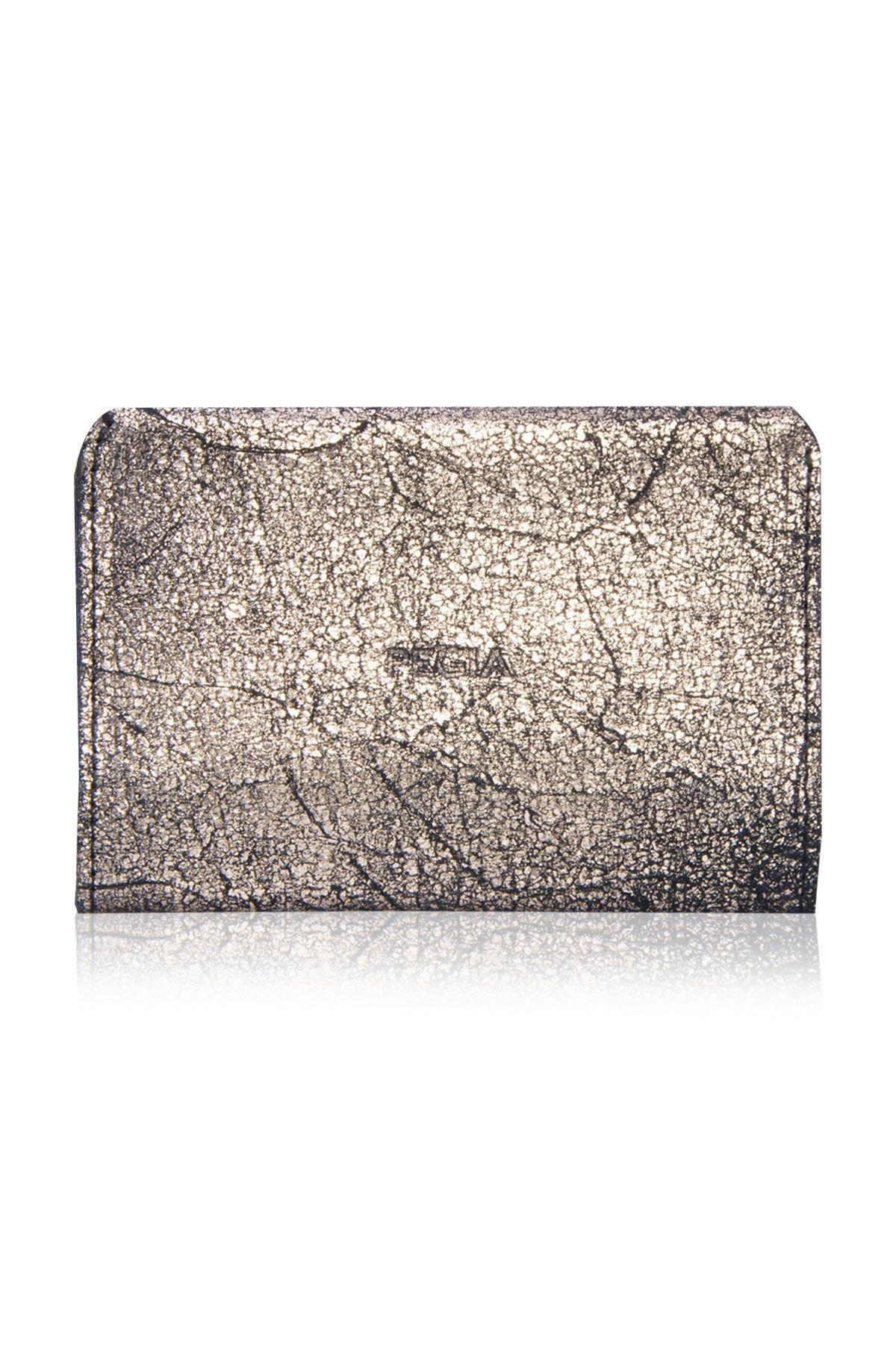 Pegia Original Leather Gilded Wallet Big Size  19CZ303 Silver