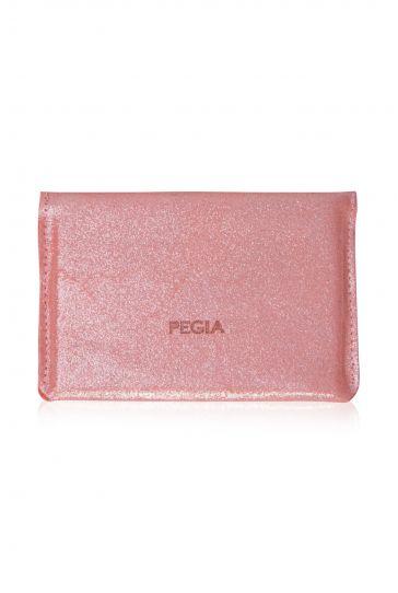 Pegia Hakiki Deri Yaldızlı Pasaport Cüzdanı 19CZ506 Pembe