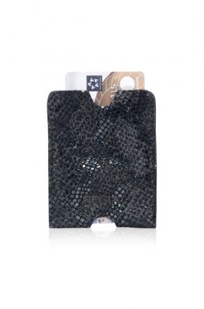 Pegia Genuine Leather Snake Printed Cardholder 19CZ251 Black