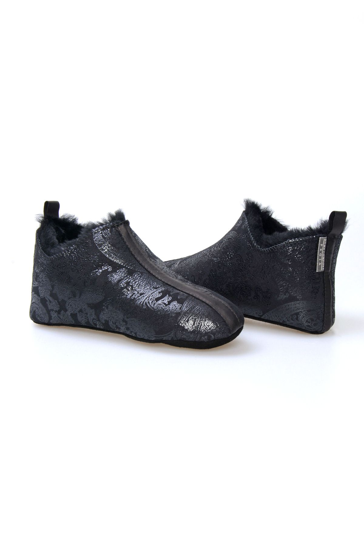 Pegia Women House-shoes From Genuine Fur Black