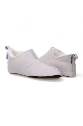 Pegia Women's Sheepskin House Slippers 980425 Gray