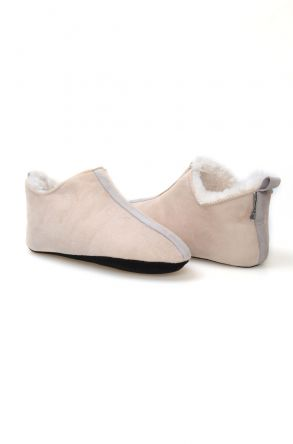 Pegia Women Sheepskin House Shoes 980431 Visone
