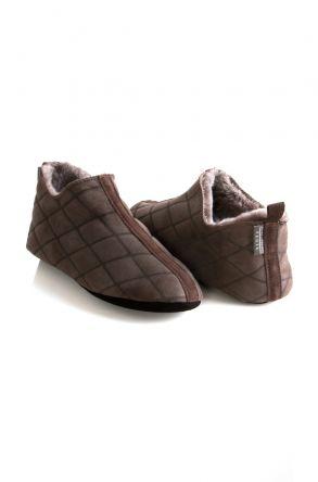 Pegia Hakiki Kürk Bayan Ev Ayakkabısı 980450 Kahve