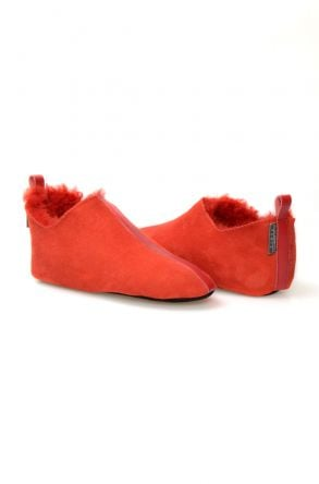 Pegia Women's Sheepskin Home Slippers 980459 Red
