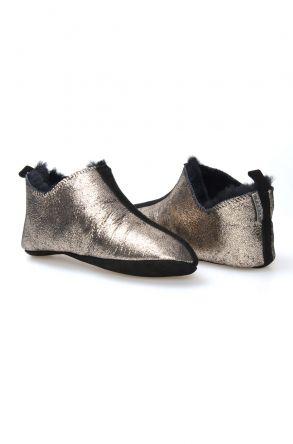 Pegia Women Sheepskin Home Slippers 980467 Bronze
