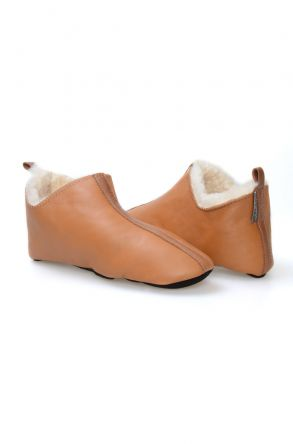 Pegia Sheepskin Women House Slippers 980489 Mustard